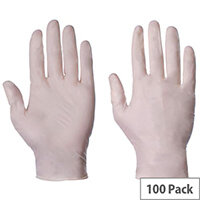 Latex Powdered Gloves Large
