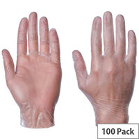 Powder Free Clear Vinyl Gloves X Large