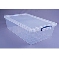 Really Useful Box Nestable Storage Box 33.5L Transparent Pack Of 3