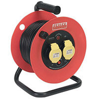 Cable Reel 25Mtr 2x110V 1.5mm Heavy Huty