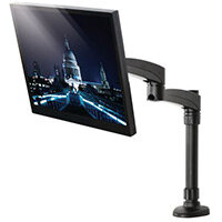 Double Arm Screen Desk Mount With Tilt And Swivel