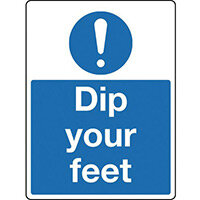 Sign Dip Your Feet Polycarbonate 300x100