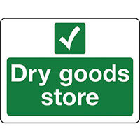 Sign Dry Goods Store Polycarbonate 300x100
