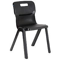 Titan One Piece School Chair Size 1 260mm Black Pack of 10