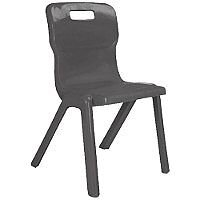 Titan One Piece School Chair Size 1 260mm Charcoal