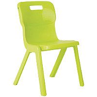 Titan One Piece School Chair Size 1 260mm Lime Pack of 10