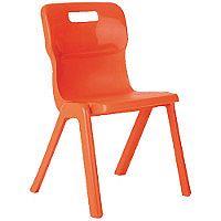 Titan One Piece School Chair Size 1 260mm Orange Pack of 10