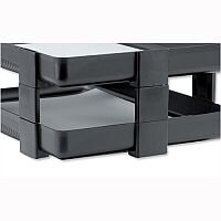 Rexel Agenda Classic Letter Tray Risers Charcoal Pack 5