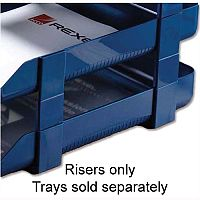 Rexel Agenda Classic Letter Tray Risers Blue Pack 5