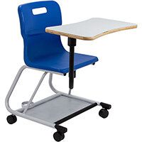 Titan Teach Chair with Writing Tablet 470mm Seat Height (Ages: 14+ Years) Blue T300-B - 5 Year Guarantee