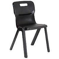 Titan One Piece School Chair Size 4 380mm Black Pack of 30