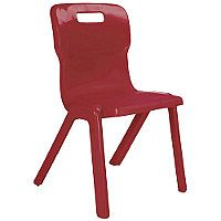 Titan One Piece School Chair Size 4 380mm Burgundy