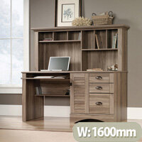Louvre Hutch Home Office Desk In Salt Oak Finish