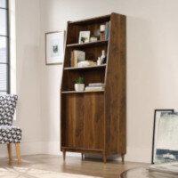 Hampstead Park Wide Bookcase W760xD396xH1788mm Grand Walnut Finish