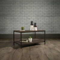 Industrial Style Coffee Table W800xD508xH420mm Smoked Oak Finish
