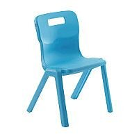 Titan One Piece School Chair Size 6 460mm Sky Blue Pack of 10