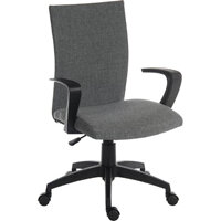 Work Fabric Modern Design High Back Home Office Chair In Grey