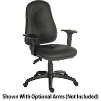 Ergo Comfort Ergonomic Posture Office Chair With Pump Up Lumbar Support In Pu Black Fabric