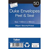 Tallon 50 Duke White Peel And Seal Envelopes Pack of 12 TA04680