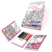 Tallon Adult Colouring Book Travel Set Pack of 6 6844