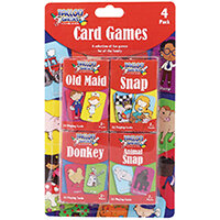 Tallon Set of 4 Card Games For Children Pack of 12 7023