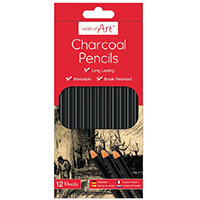 Work of Art Charcoal Pencils Pack of 12 TAL05148