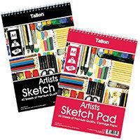 Tallon Artist Sketch Pad 40 Sheet A4 Pack of 6 TAL05682