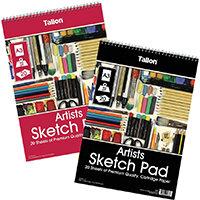 Tallon Artist Sketch Pad 20 Sheet A3 Pack of 6 TAL05683