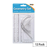 Small 4 Piece Geometry Set Pack of 12 300920
