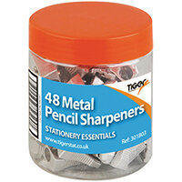 Metal Single Hole Pencil Sharpeners Pack of 48 301803