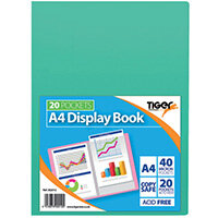 Display Book A4 20 Pocket Assorted Pastel Pack of 10 302012