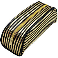 Metallic Striped Pencil Case Gold/Purple Pack of 12 302376