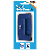Two-Hole Metal Hole Punch 6mm Pack of 6 301514