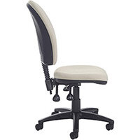Torun high back asynchro 2 lever operators chair with no arms, chrome base, seat slide and lumbar - made to order