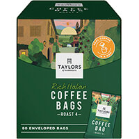 Taylors Rich Italian Coffee Bags Pack of 80 6125