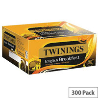 Twinings English Breakfast Individually Envelope Wrapped Tea Bags Pack of 50 x 6 F09583