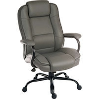 Goliath Duo Heavy Duty Bonded Leather Faced Executive Office Chair In Grey
