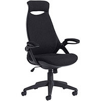 Tuscan high back fabric managers chair with head support - black