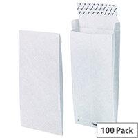 Tyvek B4 353x250x38mm Peel and Seal White Gusset Envelopes Pack of 100
