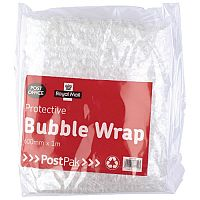 Postpak Protective Bubble Wrap Flat Sheet 600mm x 1m (Pack of 8) Ref 37728