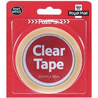 Postpak Clear Stickytape 66m Pack of 24 502183935910