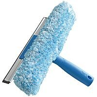 Unger 2 in 1 Window Combi Squeegee and Scrubber 250mm 5 Pack - For efficient window cleaning - Scrubber sleeve is machine washable