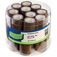 Tape 38mmx10m 30 Rolls Ultra Label Buff Pack of 30 RT08083810/30