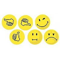 Franken Yellow Valuation Thumbs Expression Symbols Pack of 100 UMZWS