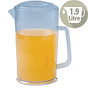 Jug 1.9 Litre Plastic with Lid Dishwasher Safe