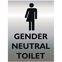 Stewart Superior Gender Neutral Toilet Sign Acrylic 150x200mm GN002-AC150X200