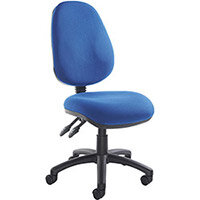 Vantage 100 2 lever PCB operators chair with no arms - blue