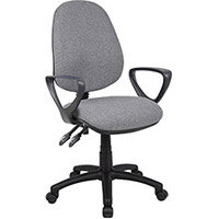 Vantage 100 2 lever PCB operators chair with fixed arms - grey