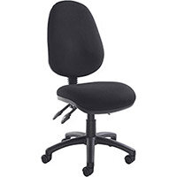 Vantage 200 3 lever asynchro operators chair with no arms - black