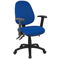 Vantage 200 3 lever asynchro operators chair with adjustable arms - blue